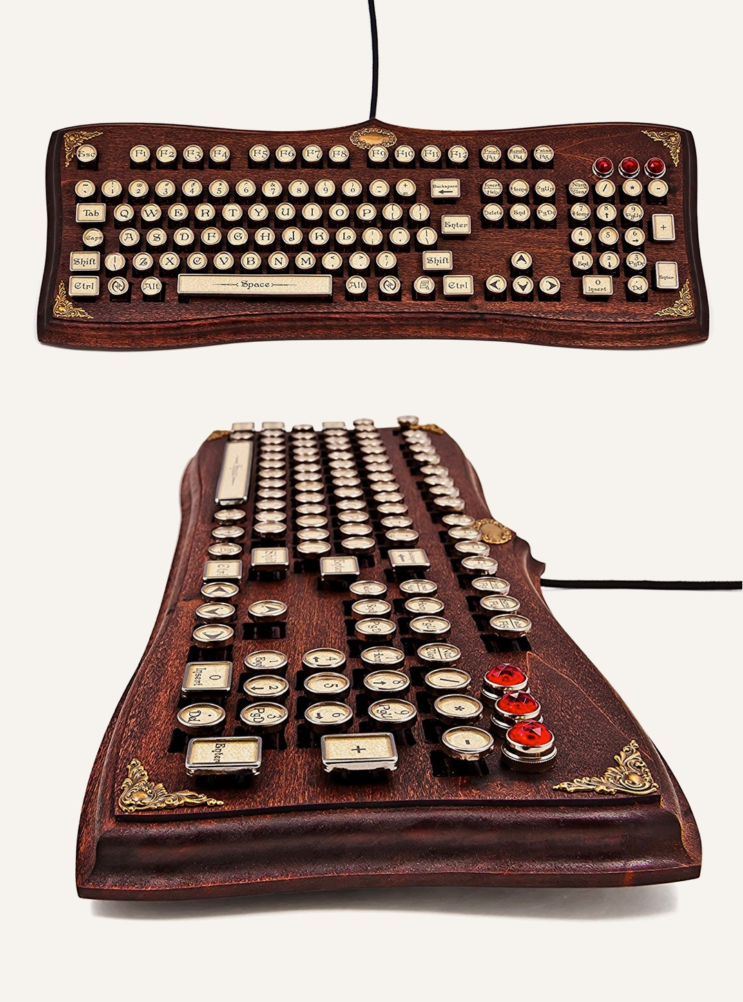 Vintage Style Unique Computer Keyboards Awesome Decors