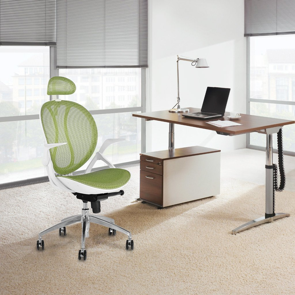white-and-lime-coloured-ergonomic-chair