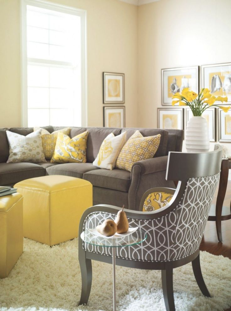 Yellow And Gray Rooms | Grey, Yellow Living Room, Living within Yellow Walls Living Room Interior Decor