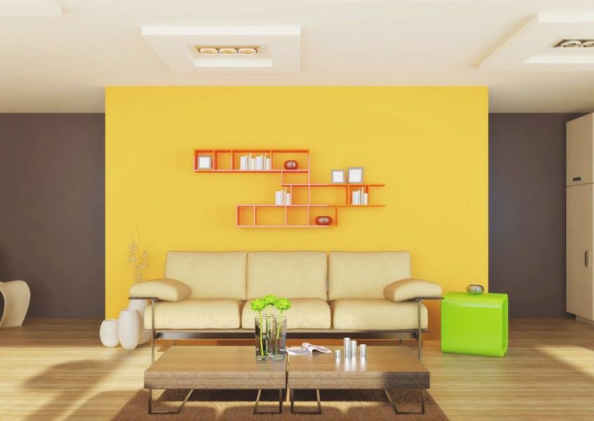 Yellow Living Room Decorations #livingroomfurniture in Unique Yellow Walls Living Room Interior Decor