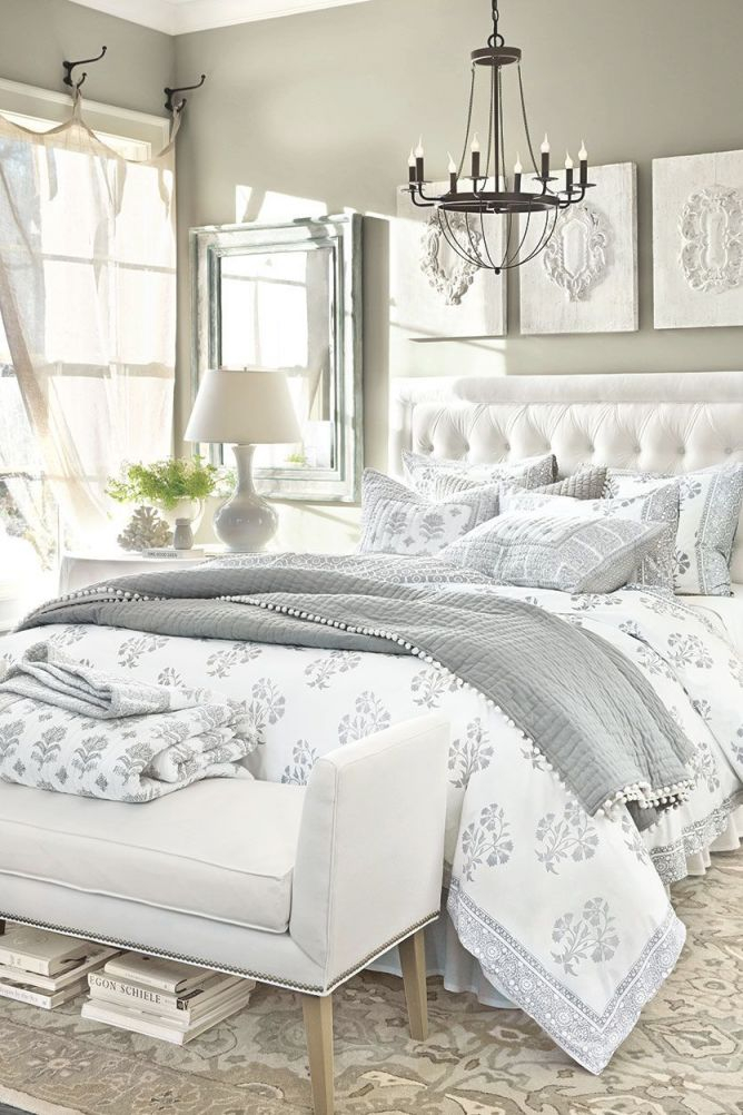 15 Anything-But-Boring Neutral Bedrooms | White Bedroom throughout French Bedroom Decorating Ideas