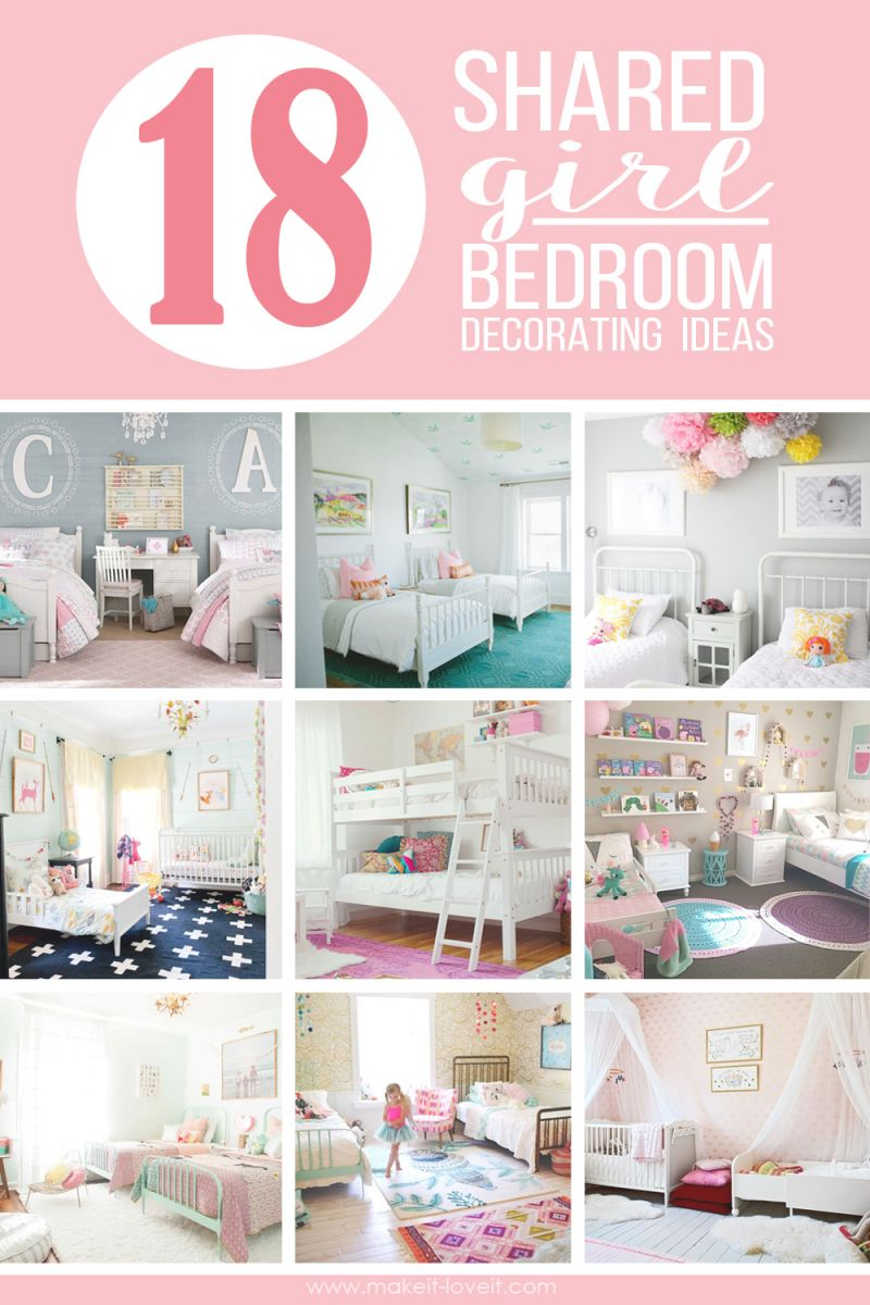 18 Shared Girl Bedroom Decorating Ideas | Make It And Love It with Bedroom Decorating Ideas For Girls