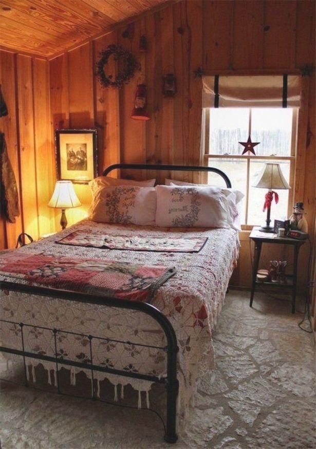 20 Cozy Cabin Bedroom Decorating Ideas #bedroom regarding Cabin Bedroom Decorating Ideas
