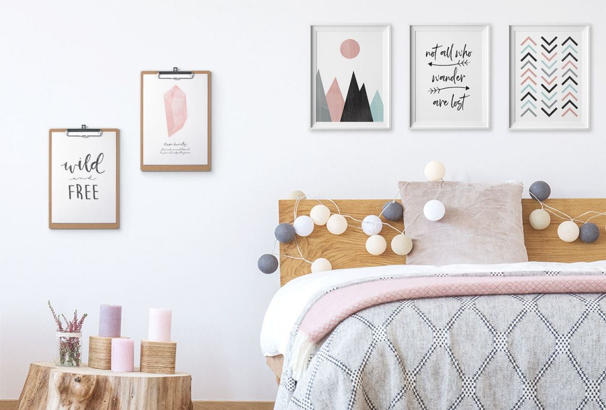 24 Diy Bedroom Decor Ideas To Inspire You (With Printables throughout Wall Decoration Ideas For Bedrooms