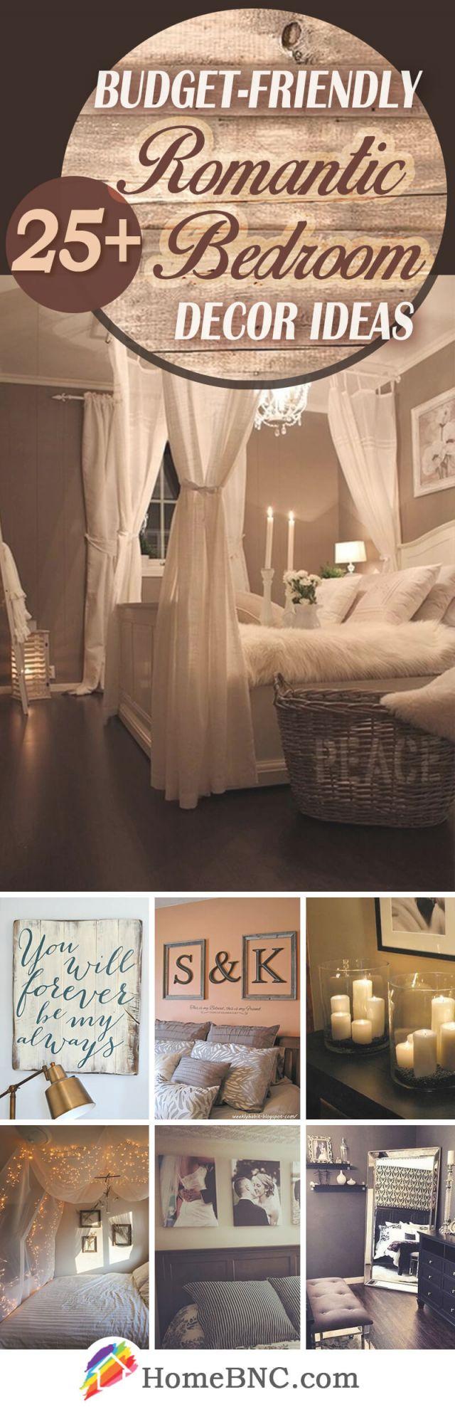 25+ Best Romantic Bedroom Decor Ideas And Designs For 2020 pertaining to Romantic Bedroom Decorating Ideas Pinterest