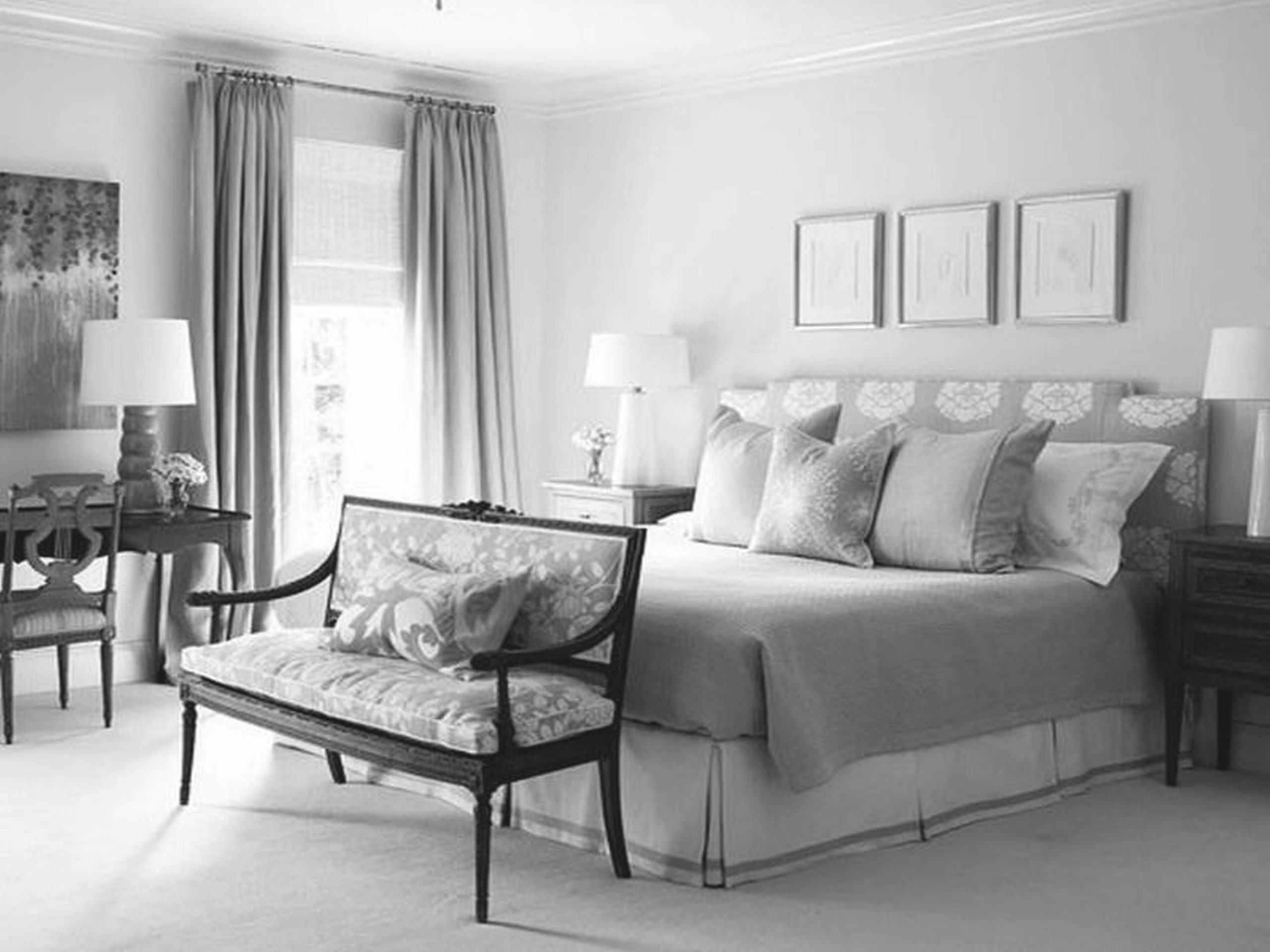 Bedroom Decorating Ideas Grey And White