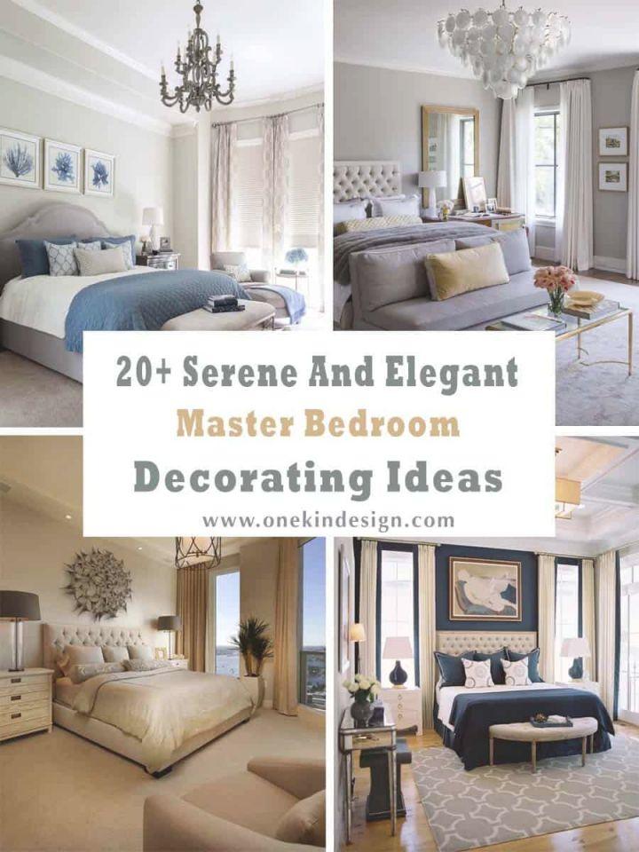 Bedroom : Beautiful Serene And Elegant Master Bedroom throughout Beautiful Master Bedroom Wall Decor Ideas