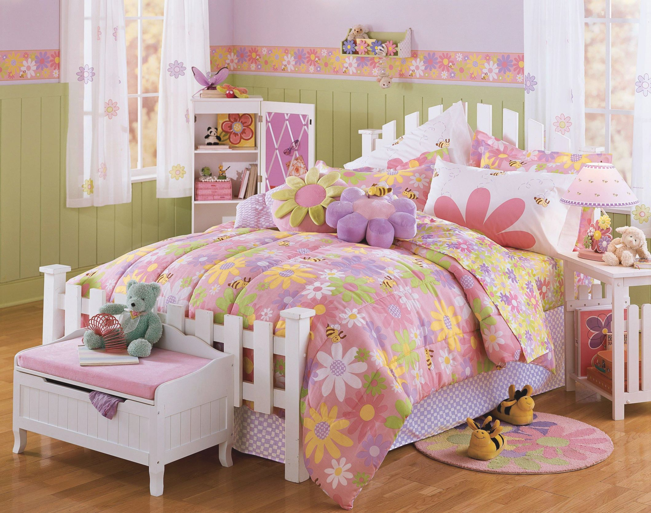 Bedroom : Girls Bedroom Theme With Pastel Green And Pink intended for Decoration Ideas For Little Girl Bedrooms