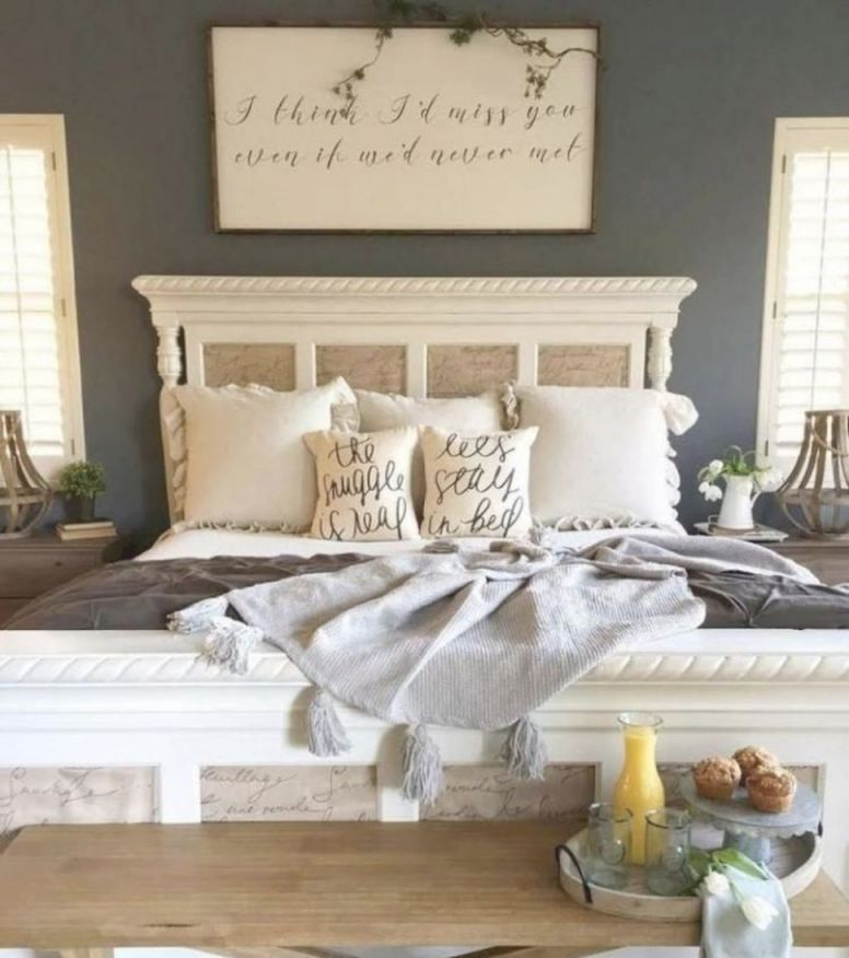 Bedroom : Gorgeous Rustic Farmhouse Master Bedroom Ideas intended for Inspirational Cabin Bedroom Decorating Ideas