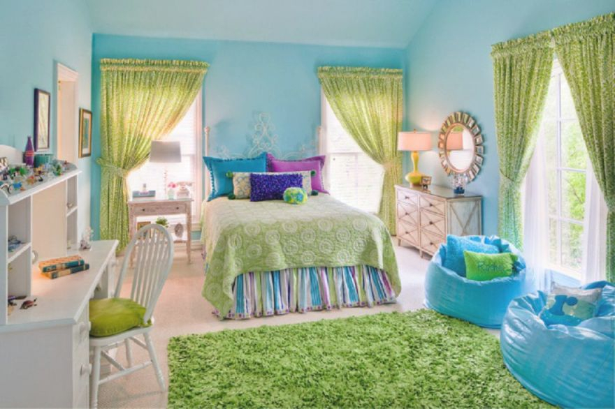 Bedroom Ideas : Decorating Your With Green Blue And Purple in Blue And Green Bedroom Decorating Ideas
