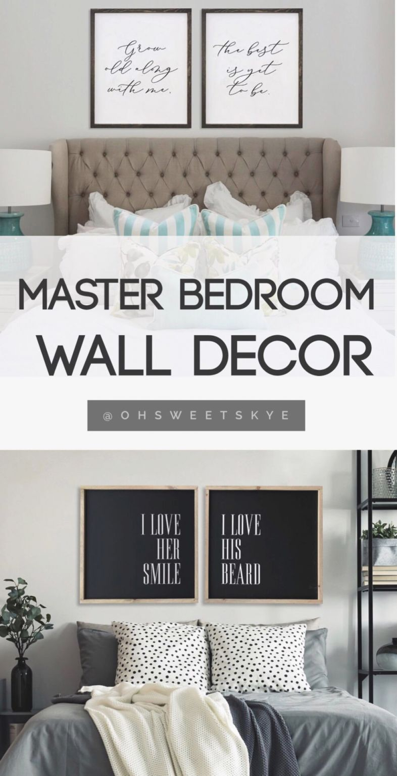 Bedroom Ideas : Master Wall Decor Decoration Decorating For in
