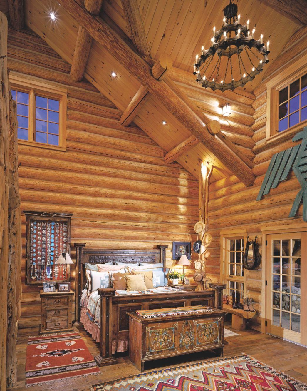 Bedroom Ideas : Rustic Interior Design Cabin Decor Log Room throughout Cabin Bedroom Decorating Ideas