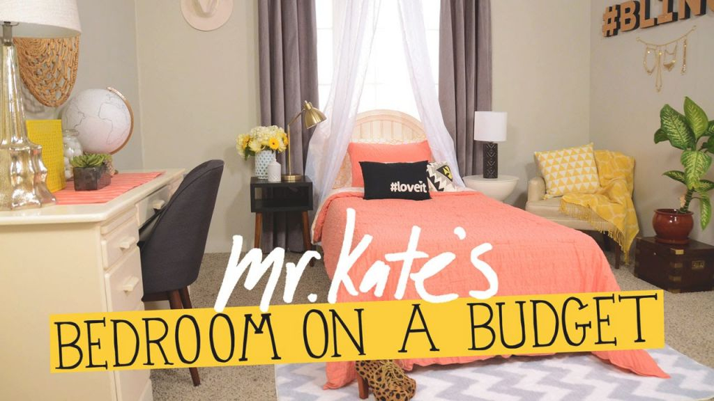Bedroom On A Budget!   Diy Home Decor   Mr Kate in Cheap Bedroom Decor Ideas