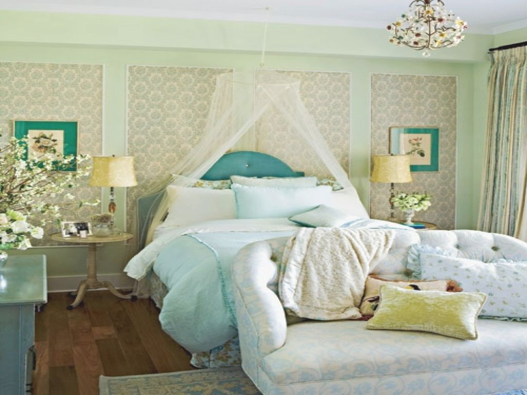 Blue And Gold Bedroom Ideas, Feminine Bedroom Decorating intended for Lovely Feminine Bedroom Decorating Ideas