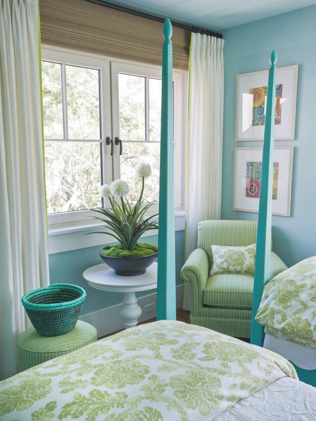 Blues & Greens - My Favorite Color Combo - Addicted 2 within Blue And Green Bedroom Decorating Ideas
