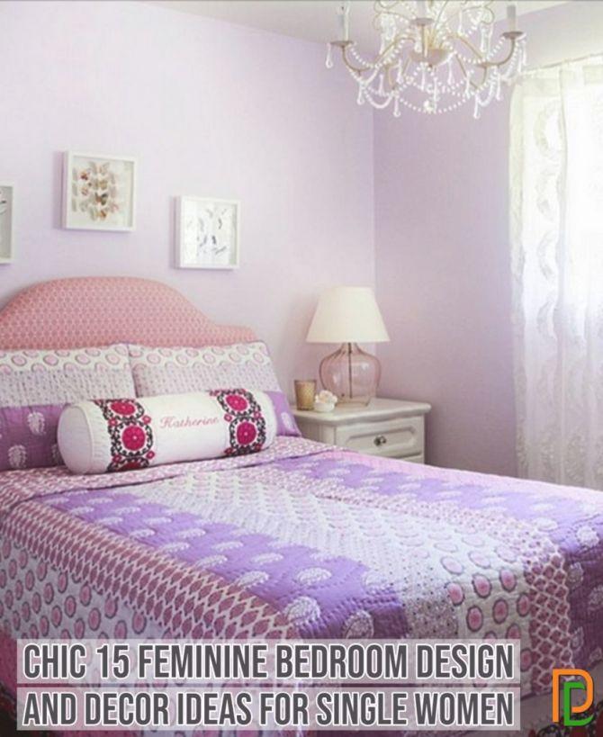 Chic 15 Feminine Bedroom Design And Decor Ideas For Single Within Lovely Feminine Bedroom Decorating Ideas Awesome Decors