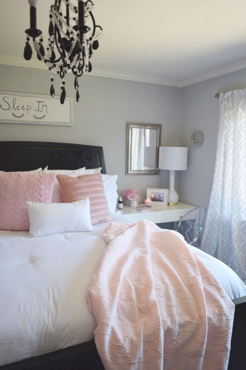 Create A Romantic Bedroom With Bright Whites And Pale Blush with regard to Romantic Bedroom Decorating Ideas Pinterest