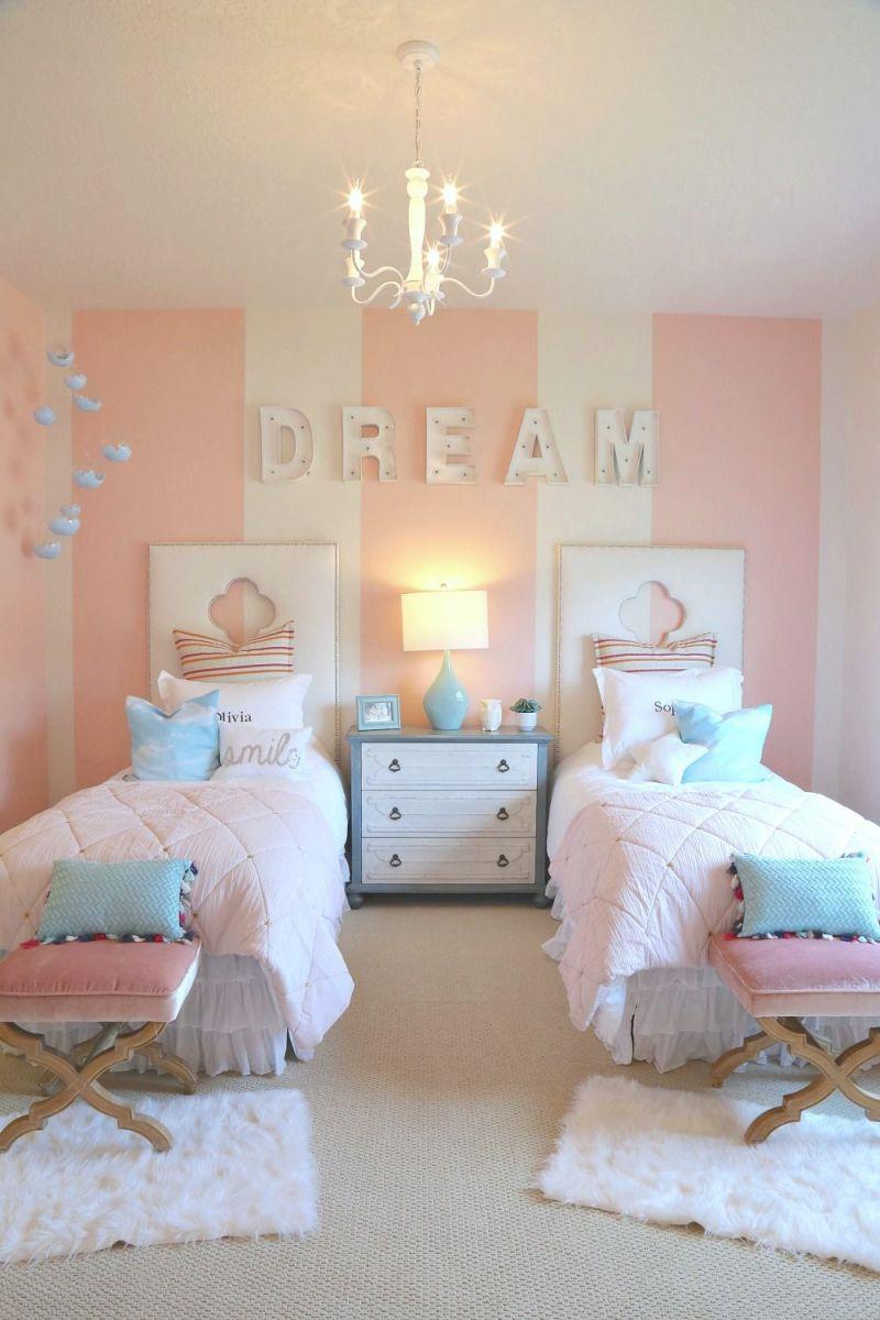 Creative Kids Bedroom Decorating Ideas | Twin Girl Bedrooms for Inspirational Childrens Bedroom Decor Ideas