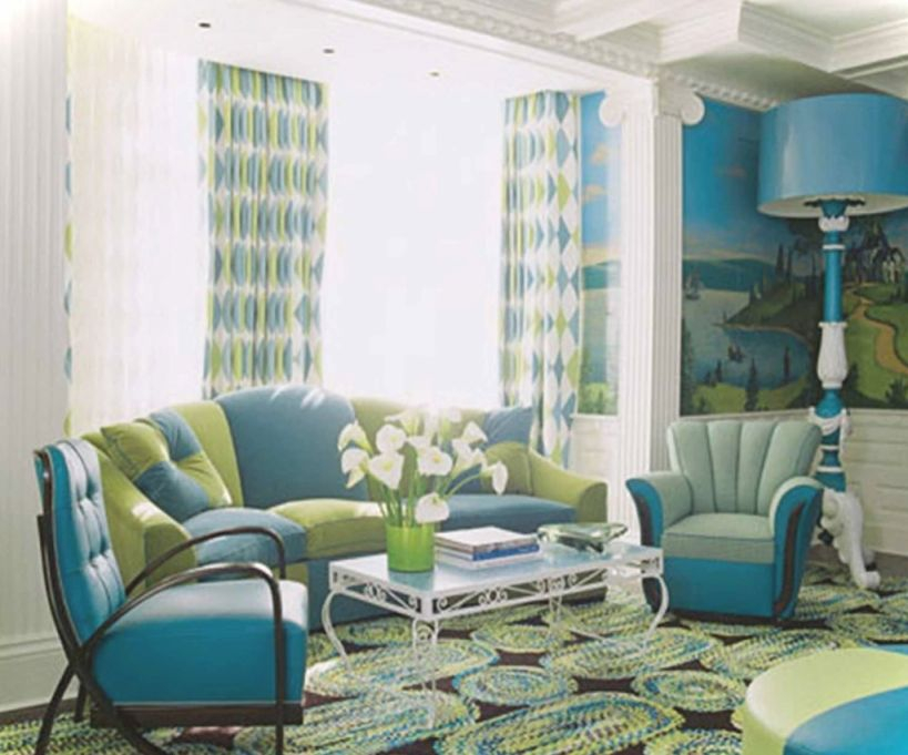 Creative Of Blue And Green Living Room Brilliant Green And in Blue And Green Bedroom Decorating Ideas