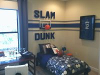 Decorating Idea For Boys Room. Sports Theme. Get The Green with Boys Bedroom Ideas Decorating