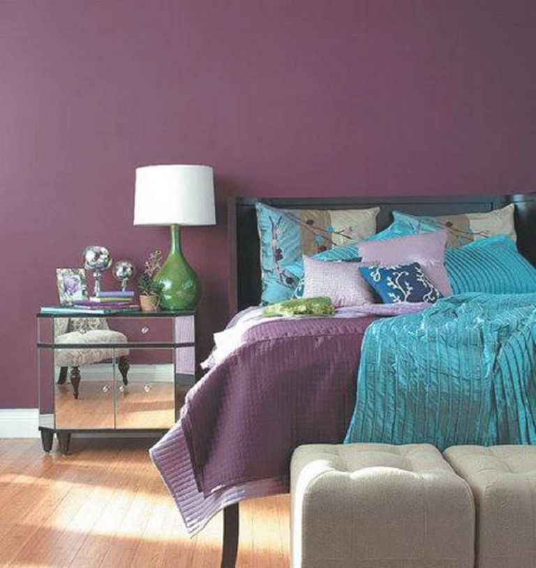 Decorating Your Bedroom With Green, Blue, And Purple inside Inspirational Blue And Green Bedroom Decorating Ideas
