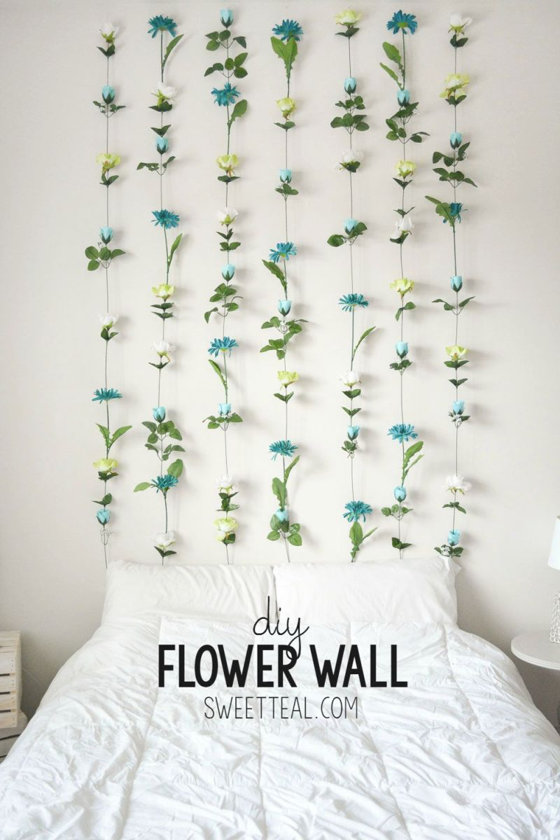 Diy Flower Wall | Diy Projects For Bedroom, Diy Bedroom throughout Inspirational Wall Decoration Ideas For Bedrooms