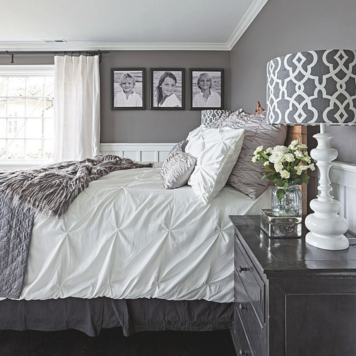 Gorgeous Gray-And-White Bedrooms | Master Bedroom Makeover throughout Elegant Bedroom Decorating Ideas Grey And White