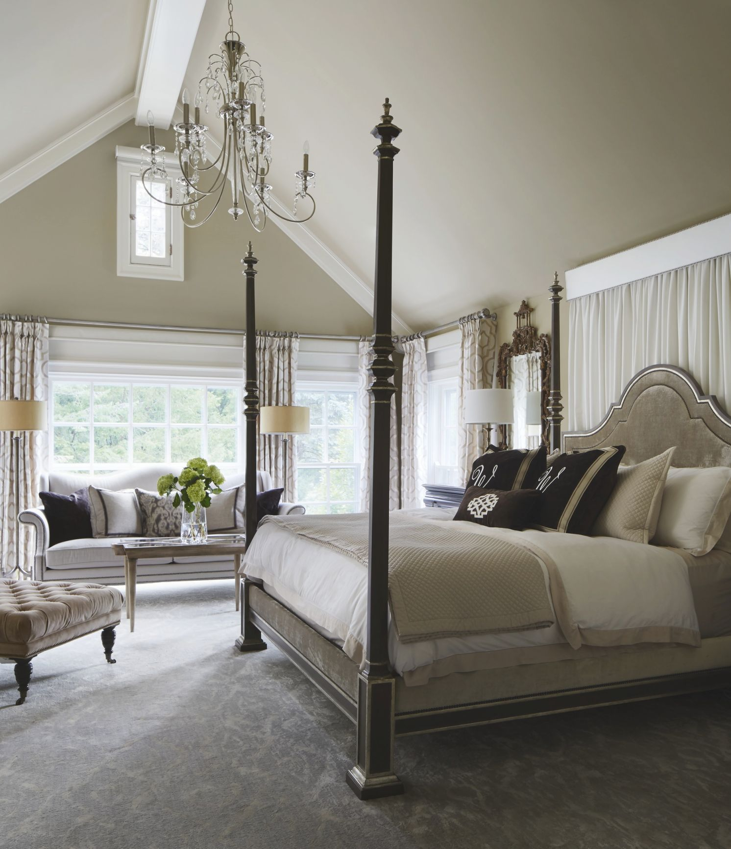 Gorgeous Gray-And-White Bedrooms | Traditional Home with regard to Elegant Bedroom Decorating Ideas Grey And White