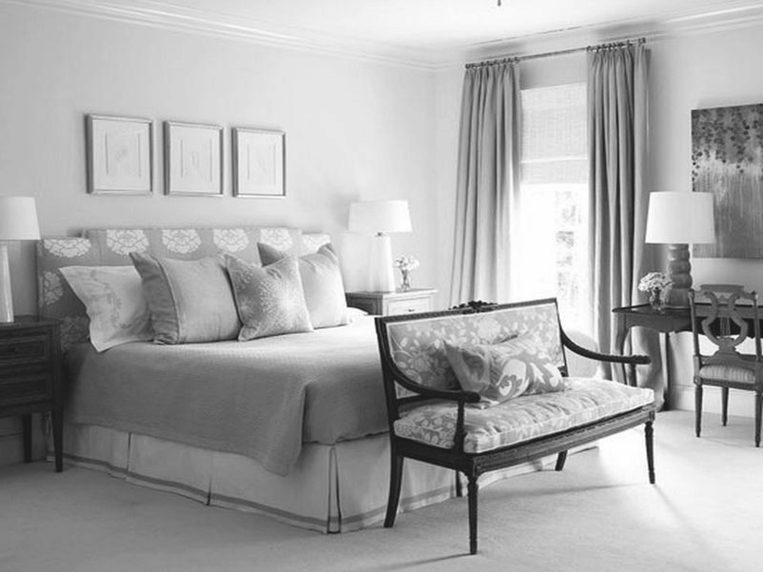 Grey Bedroom With White Raya Gray Furniture Ideas And Colors Regarding Elegant Bedroom Decorating Ideas Grey And White Awesome Decors