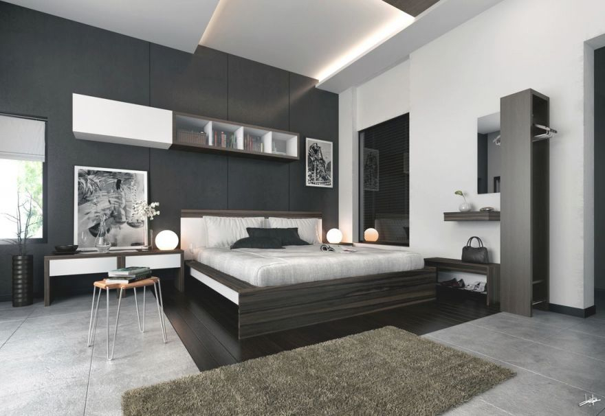 Grey Black White Master Bedroom Design Decorating Ideas regarding Elegant Bedroom Decorating Ideas Grey And White