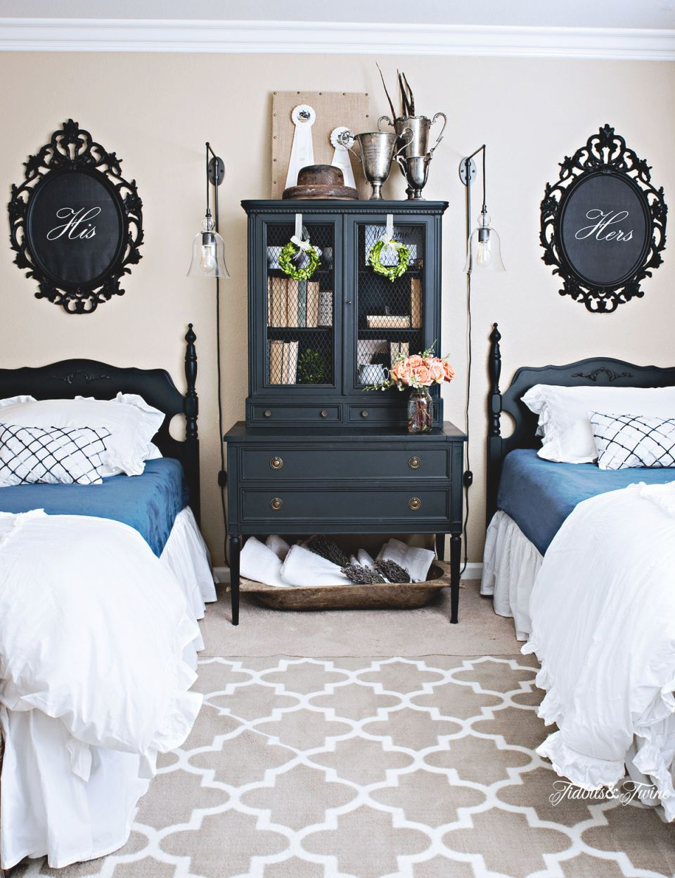 Guest Bedroom Makeover – Part 2 regarding Twin Bedroom Decorating Ideas
