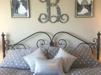 Idea For Above The Bed In Master Bedroom. Monogram And with regard to Wall Decor Bedroom Ideas