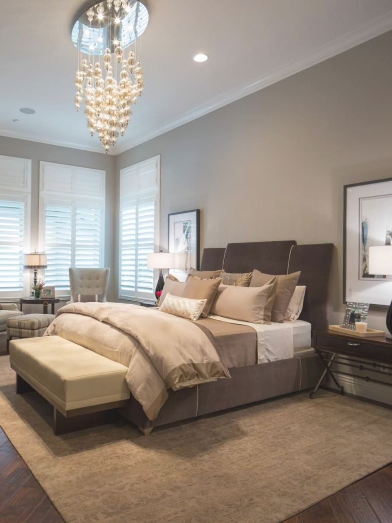 Jonathan Scott's Bedroom Features A Mix Of Browns, Taupes in Taupe Bedroom Decorating Ideas