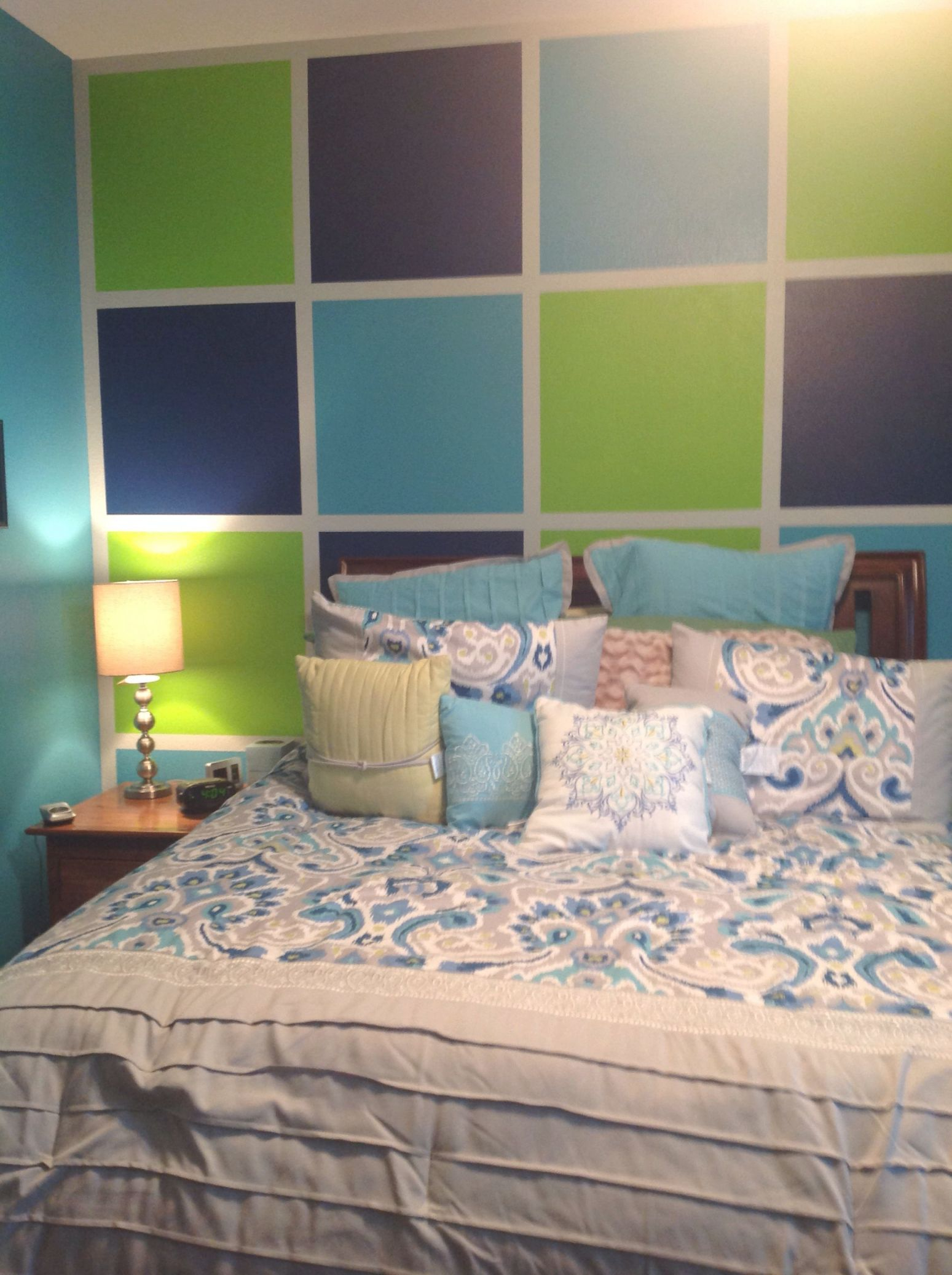Love This New Teenage Girls Room In Aqua, Lime Green, And pertaining to Inspirational Blue And Green Bedroom Decorating Ideas