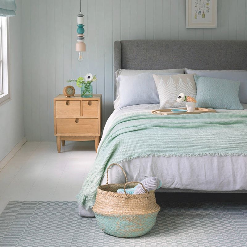 Marvelous Green Bedrooms Ideas Dark Accent Wall Bedroom And in Blue And Green Bedroom Decorating Ideas
