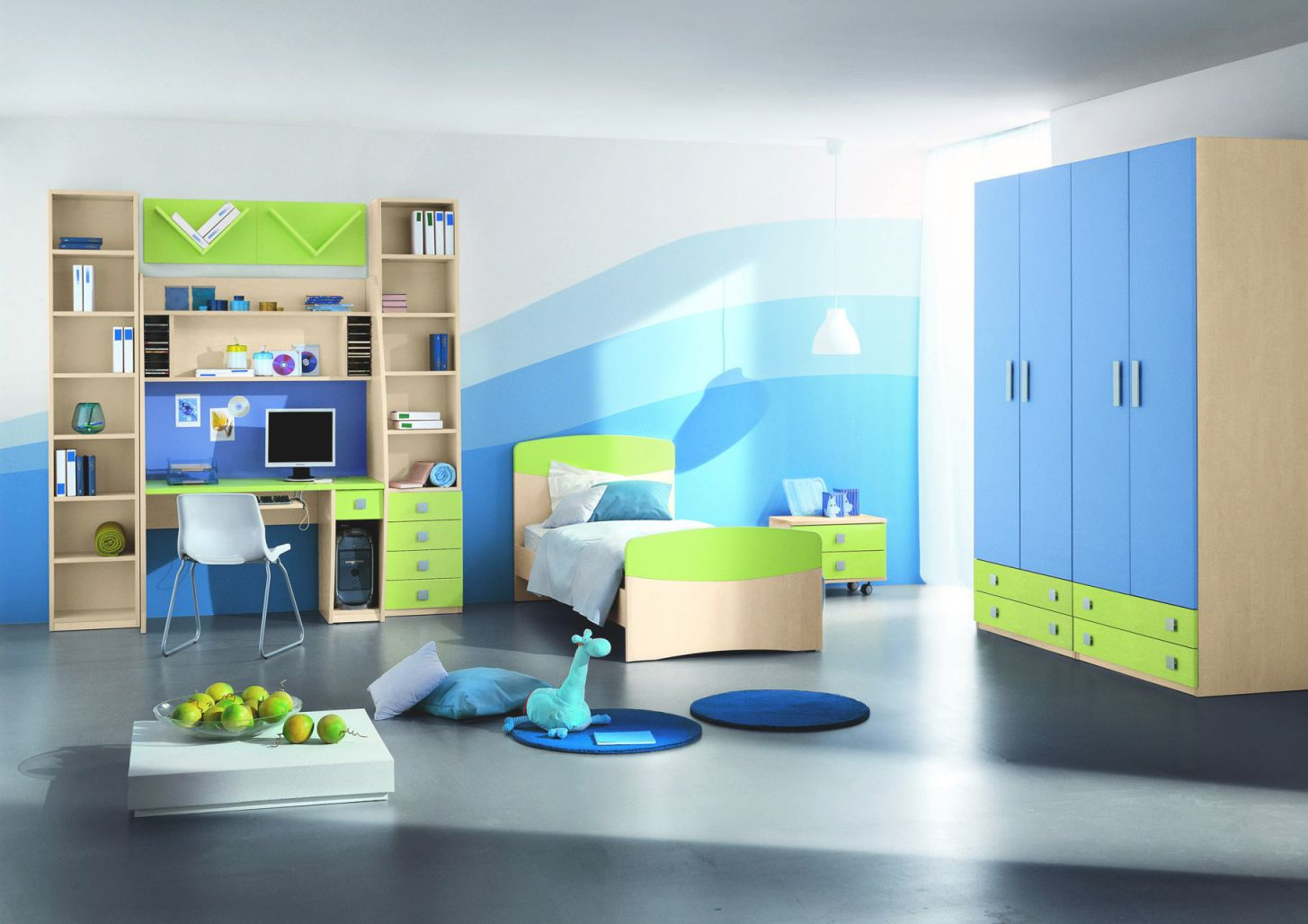 Modern Kids Room Ideas The Holland Abstract Canvas Wall Art with Blue And Green Bedroom Decorating Ideas
