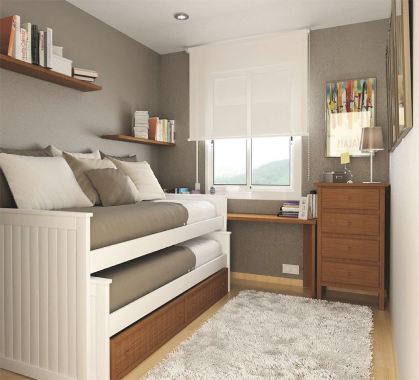 Organize Small Bedroom Space Saving Ideas For Apartments inside Best of Decorating Ideas For Small Bedroom