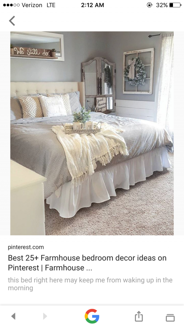 Pinjenny Phillips On Farmhouse | Farmhouse Bedroom Decor with Unique Romantic Bedroom Decorating Ideas Pinterest