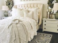 So Pretty! Love The Headboard. | Farmhouse Bedroom Decor pertaining to French Bedroom Decorating Ideas