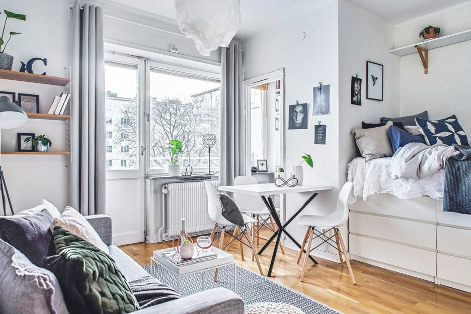 12 Perfect Studio Apartment Layouts That Work with regard to One Bedroom Apartment Decorating Ideas
