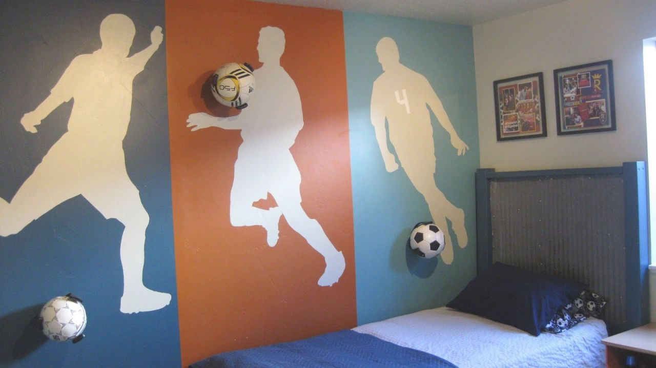 15 Cool Teenage Boy Room Ideas | Soccer Room, Boy Sports pertaining to Football Bedroom Decorating Ideas