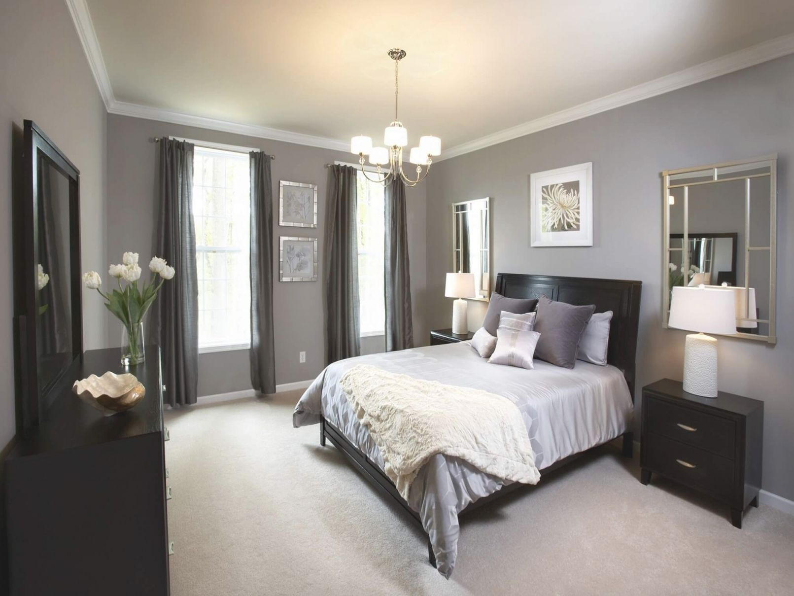23 Best Grey Bedroom Ideas And Designs For 2020 in Beautiful Black And Grey Bedroom Decorating Ideas