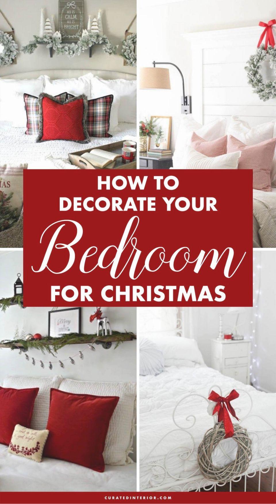 25 Christmas Bedroom Decor Ideas For A Cozy Holiday Bedroom! in Decoration For Bedrooms Ideas