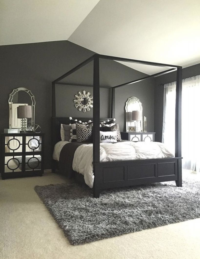 25 Elegant Black Bedroom Decorating Ideas | Black Master inside Beautiful Black And Grey Bedroom Decorating Ideas