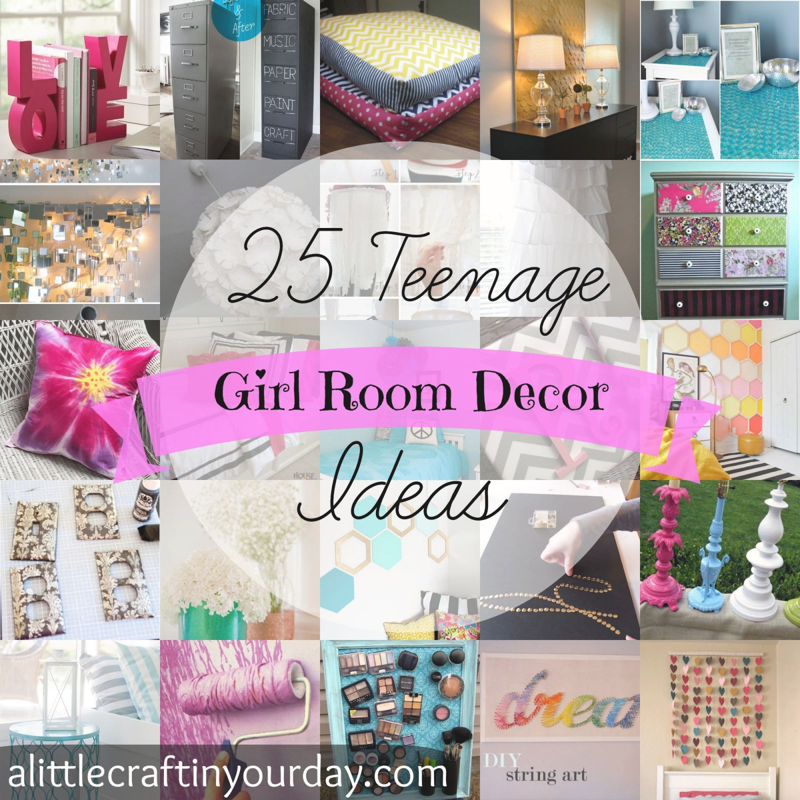 25 Teenage Girl Room Decor Ideas – A Little Craft In Your Day throughout Awesome Teen Bedroom Decorating Ideas