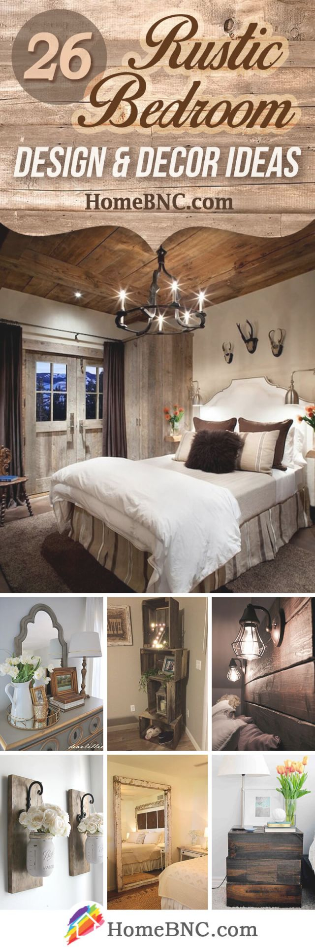 26 Best Rustic Bedroom Decor Ideas And Designs For 2020 throughout Unique Rustic Bedroom Decorating Ideas