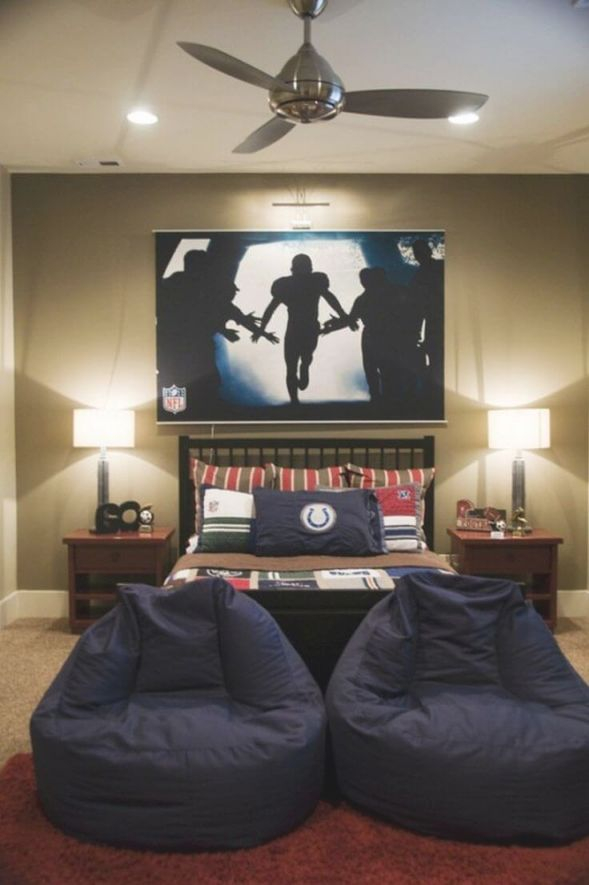 33 Best Teenage Boy Room Decor Ideas And Designs For 2020 for Football Bedroom Decorating Ideas