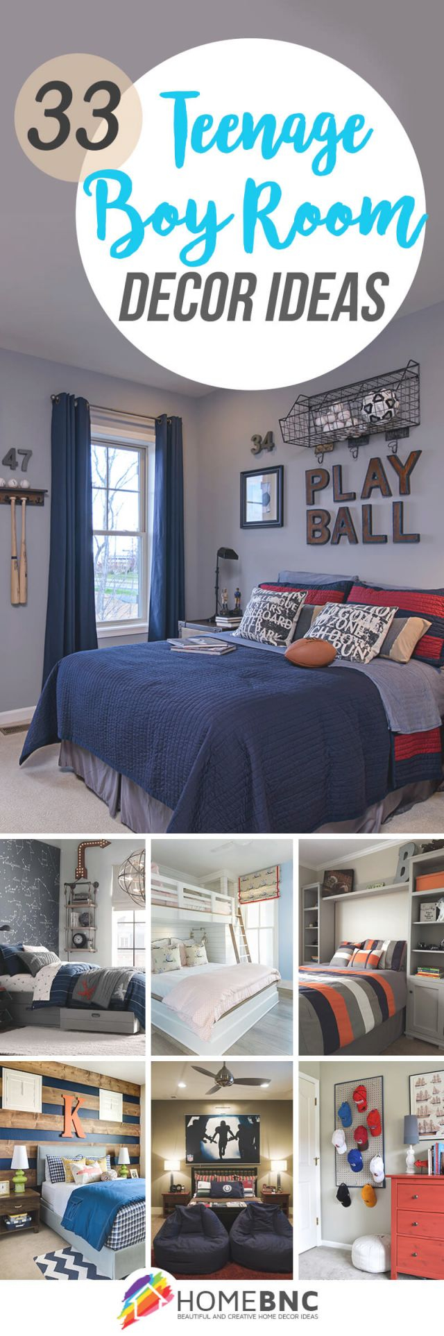 33 Best Teenage Boy Room Decor Ideas And Designs For 2020 intended for Football Bedroom Decorating Ideas