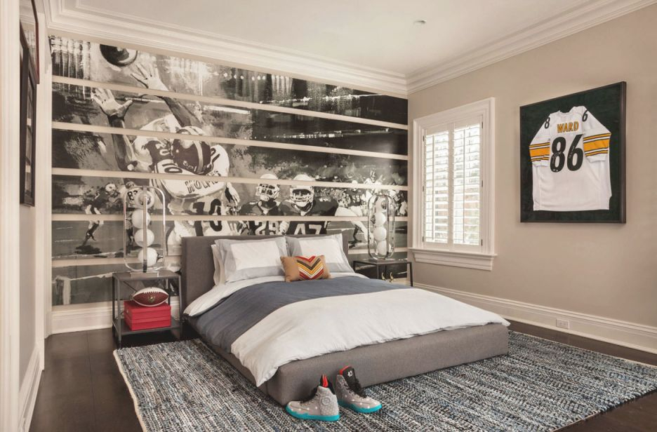47 Really Fun Sports Themed Bedroom Ideas | Home Remodeling for Awesome Football Bedroom Decorating Ideas