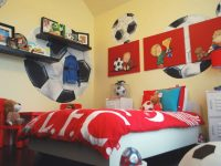 47 Really Fun Sports Themed Bedroom Ideas | Home Remodeling inside Awesome Football Bedroom Decorating Ideas